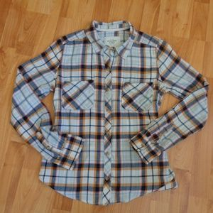 Abercrombie & Fitch plaid flannel button up